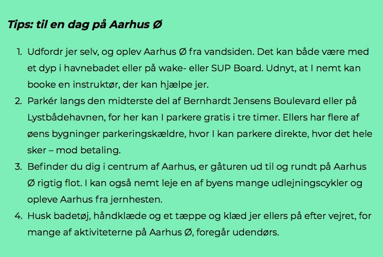 Guide til øen: Oplevelsesrig dag på Aarhus Ø