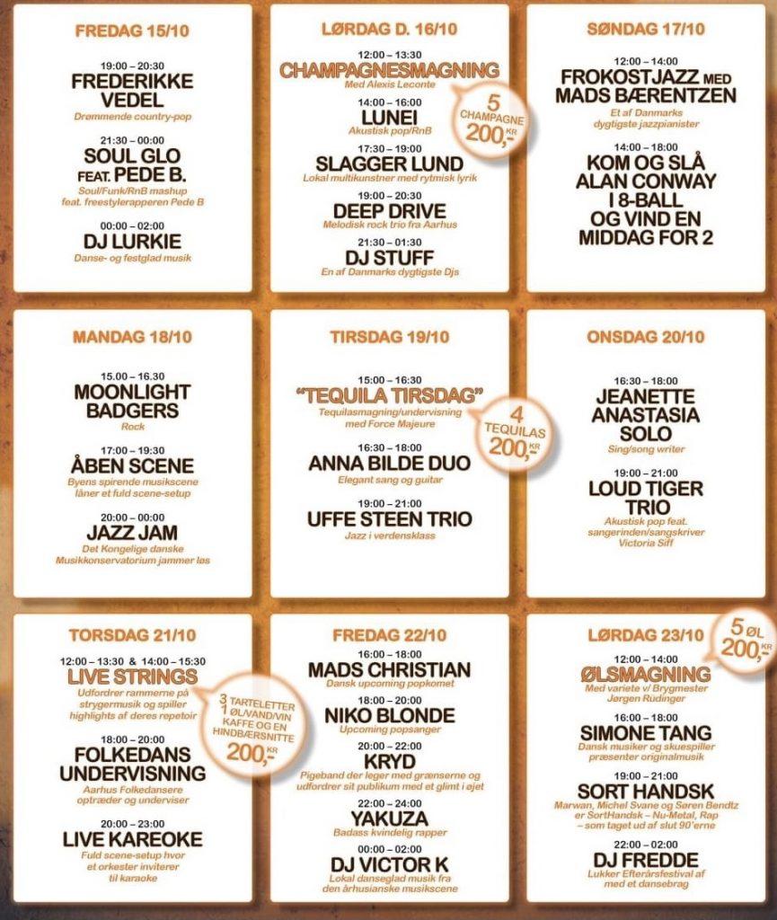 Koncerter, tequilasmagning og karaoke: Kom til efterårsfestival på Klostertorvet